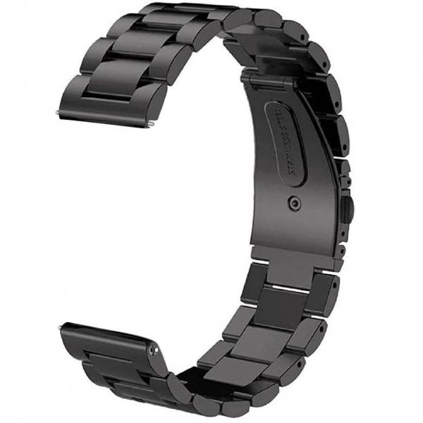 Bratara curea ceas metalica neagra 22mm [2]