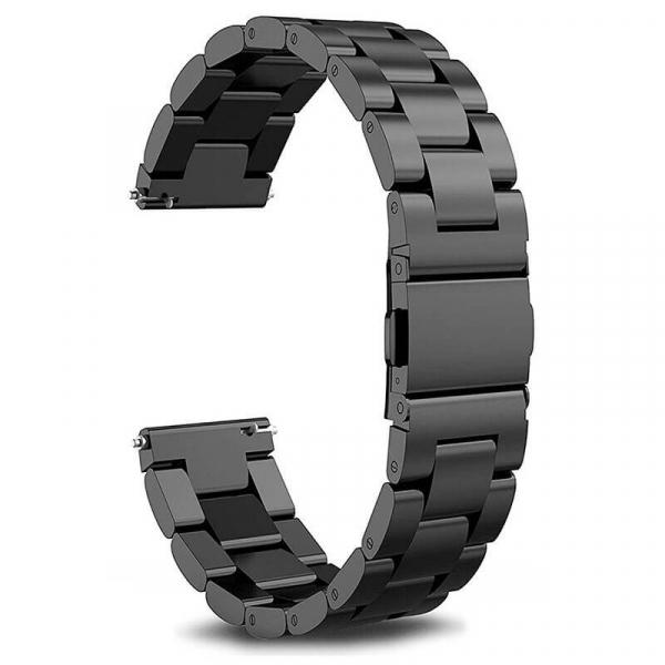 Bratara curea ceas metalica neagra 22mm [0]