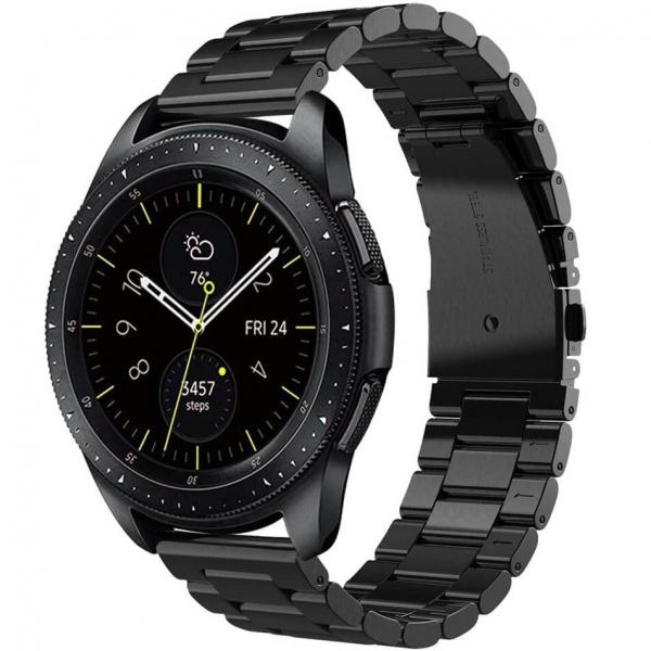 Bratara curea ceas metalica neagra 22mm [1]