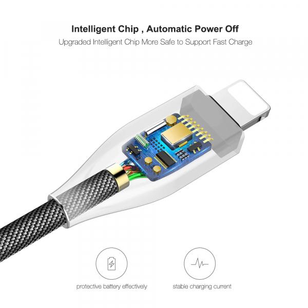Cablu lightning 2.4A FLOVEME [3]