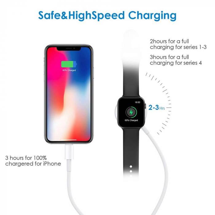 Cablu lightning 2 in 1 pentru iPhone/iPad si Apple Watch [2]