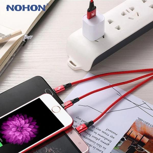 Cablu universal 3 in 1 rosu [7]