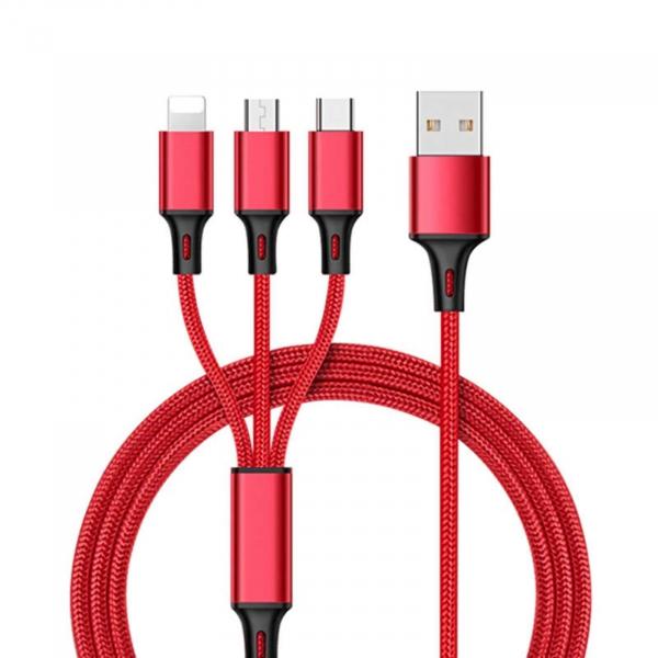 Cablu universal 3 in 1 rosu [0]