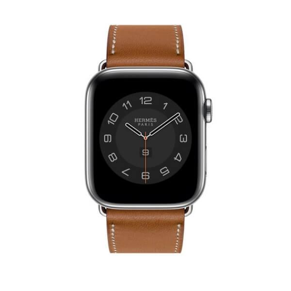 Curea Apple Watch Piele Maro Deschis 42/44mm [2]