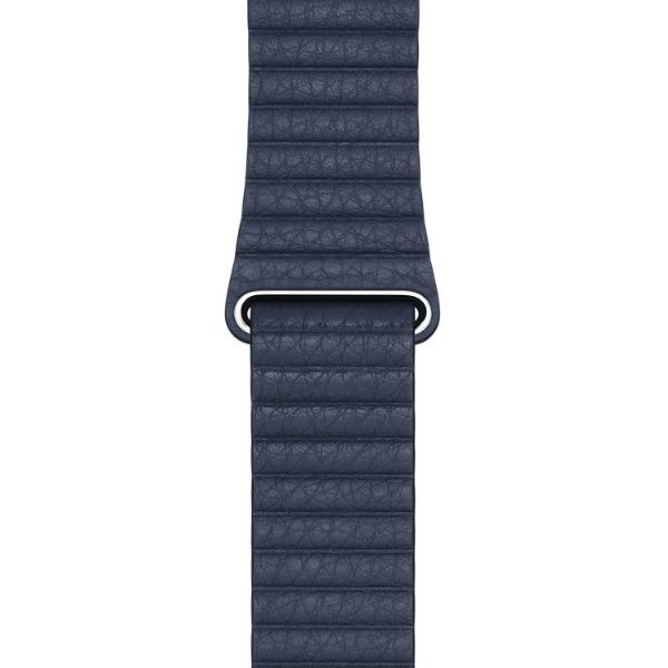 Curea Apple Watch cu prindere magnetica din piele albastra 42/44mm [0]