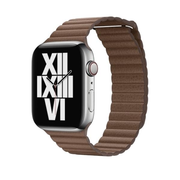 Curea Apple Watch cu prindere magnetica din piele maro 42/44mm [1]