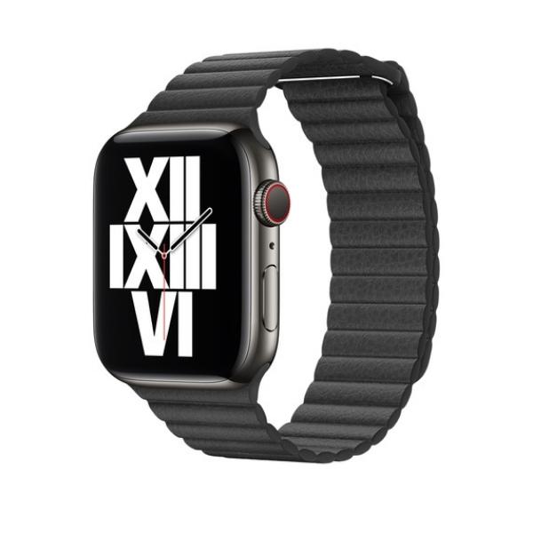 Curea Apple Watch cu prindere magnetica din piele neagra 42/44mm [1]