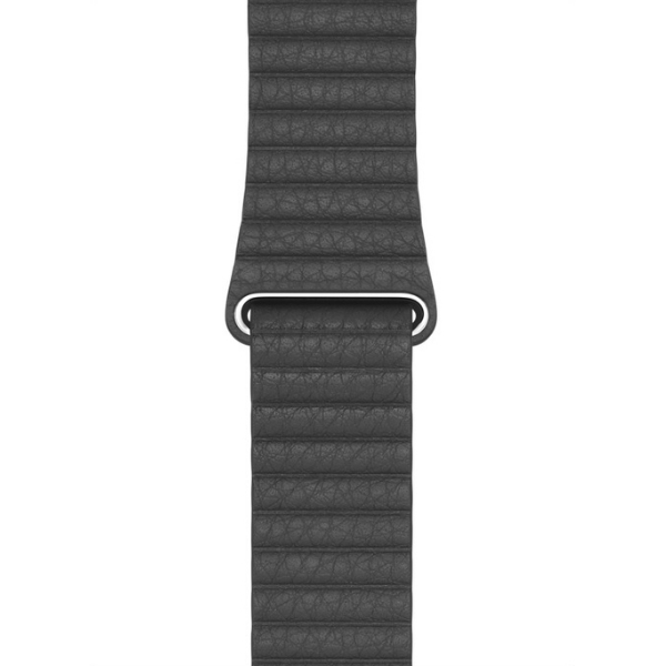 Curea Apple Watch cu prindere magnetica din piele neagra 42/44mm [0]