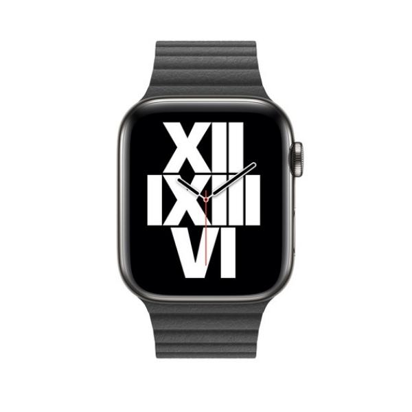 Curea Apple Watch cu prindere magnetica din piele neagra 42/44mm [2]