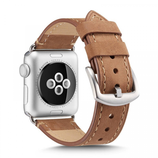 Curea pentru Apple Watch din Piele Maro Deschis 42/44mm [1]