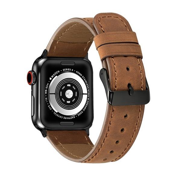 Curea Apple Watch Piele Maro Inchis 42/44mm [1]