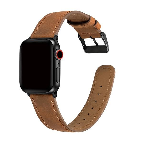 Curea Apple Watch Piele Maro Inchis 42/44mm [2]