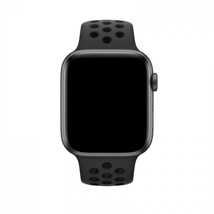 Curea Apple Watch Silicon Sport Neagra cu perforatii 38/40mm [1]