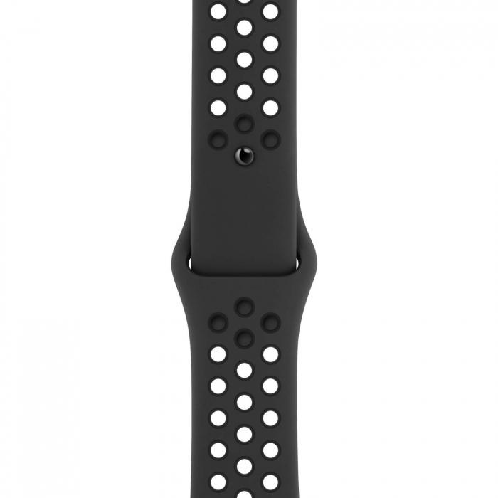Curea Apple Watch Silicon Sport Neagra cu perforatii 38/40mm [0]