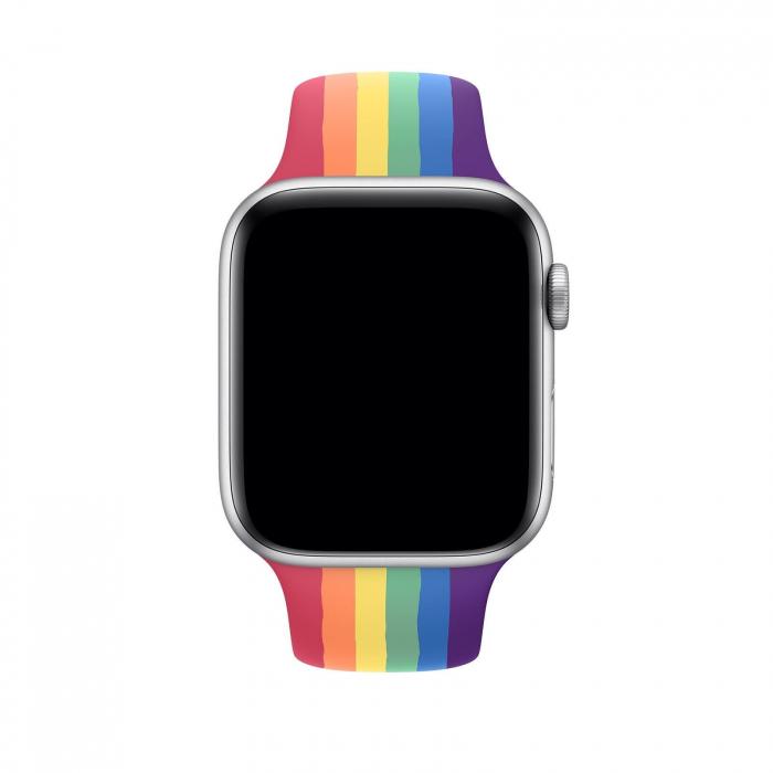 Curea Apple Watch Silicon Sport Curcubeu 42/44mm [2]