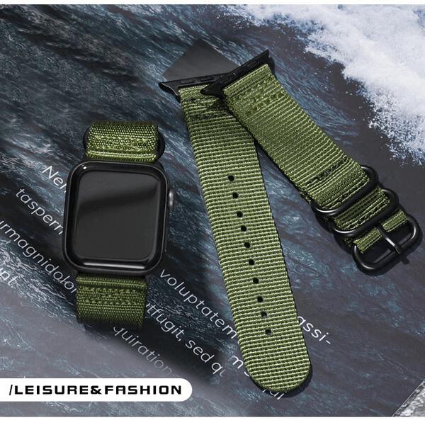 Curea Apple Watch sport verde army 42/44mm [2]