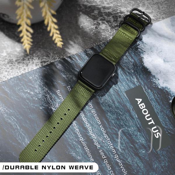 Curea Apple Watch sport nylon verde army 38mm 40mm [4]