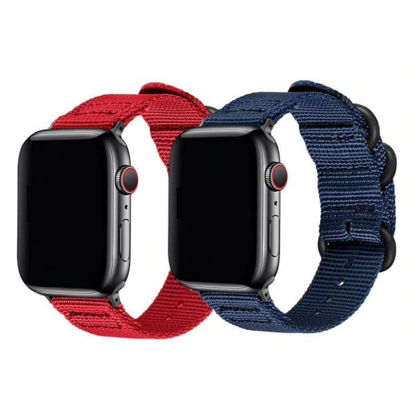 Curea Apple Watch nylon sport albastra 42/44mm [7]