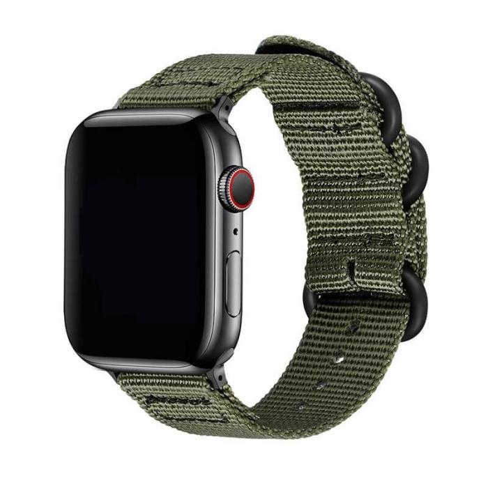 Curea Apple Watch sport nylon verde army 38mm 40mm [0]