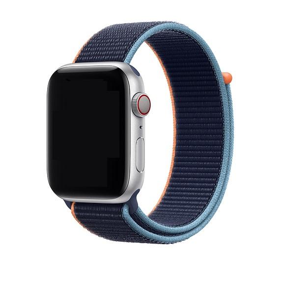 Curea Apple Watch Nylon Albastra Sport Loop Dark Navy Blue 38/40mm [1]