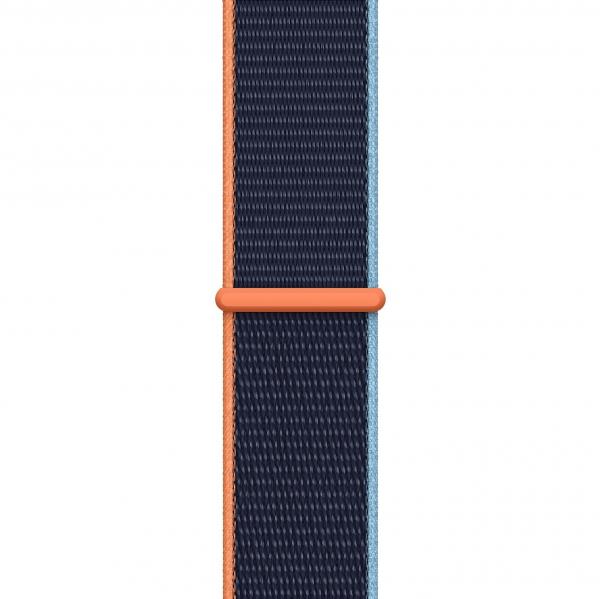 Curea Apple Watch Nylon Albastra Sport Loop Dark Navy Blue 42/44mm [0]