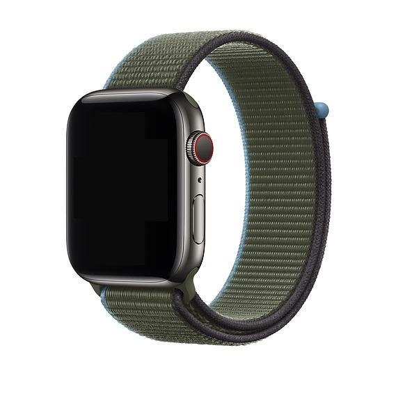 Curea Apple Watch Nylon Verde Sport Loop Inverness Green 42/44mm [1]