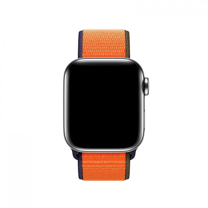 Curea Apple Watch Nylon Sport Loop Portocalie 38/40mm [1]