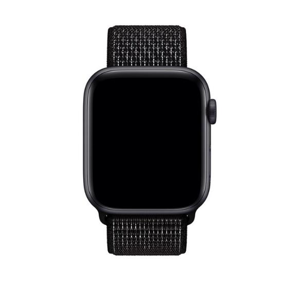 Curea Apple Watch Nylon Sport Loop Neagra 42/44mm [2]