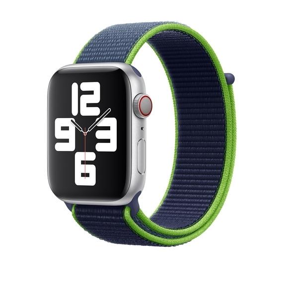 Curea Apple Watch Sport Loop Albastru-Neon 42/44mm [1]
