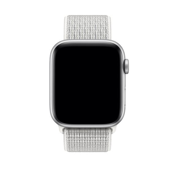 Curea Apple Watch Nylon Sport Loop Alba 42/44mm [2]