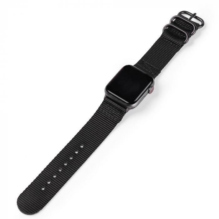 Curea Apple Watch sport nylon neagra 38/40mm [2]