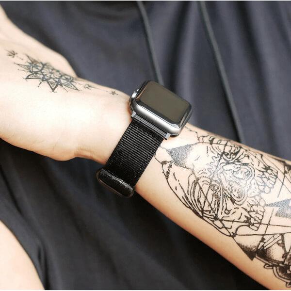 Curea Apple Watch nylon sport neagra 42/44mm [3]