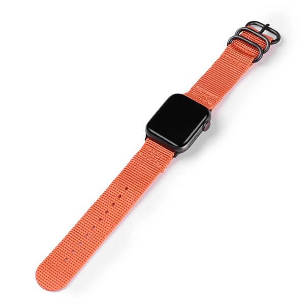 Curea Apple Watch sport nylon portocalie 38/40mm [2]