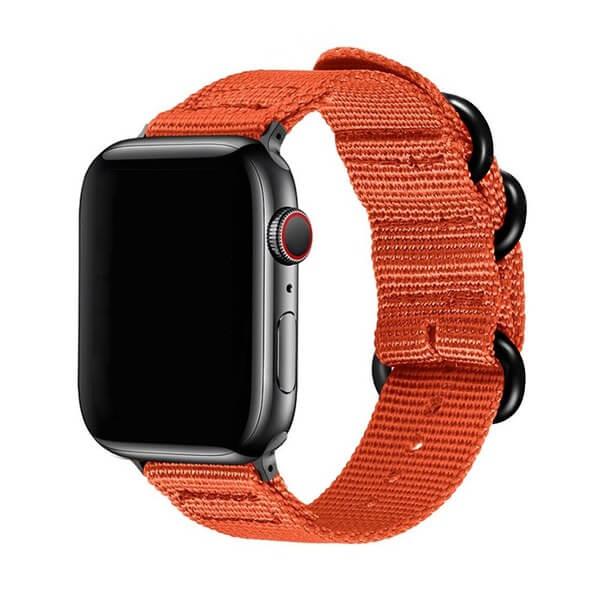 Curea Apple Watch sport nylon portocalie 38/40mm [0]