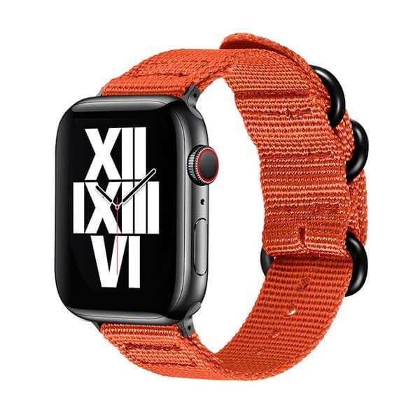 Curea Apple Watch nylon sport portocalie 42/44mm [0]