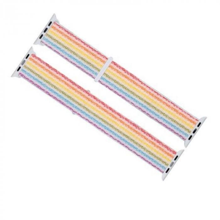 Curea Apple Watch Sport Rainbow, Curcubeu, Multicolora 38/40/41mm [5]