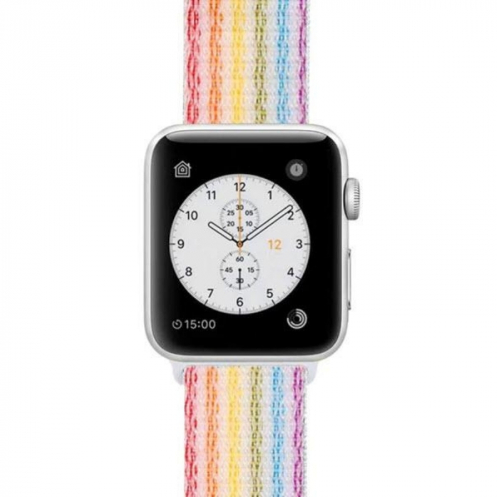 Curea Apple Watch Sport Rainbow, Curcubeu, Multicolora 38/40/41mm [4]
