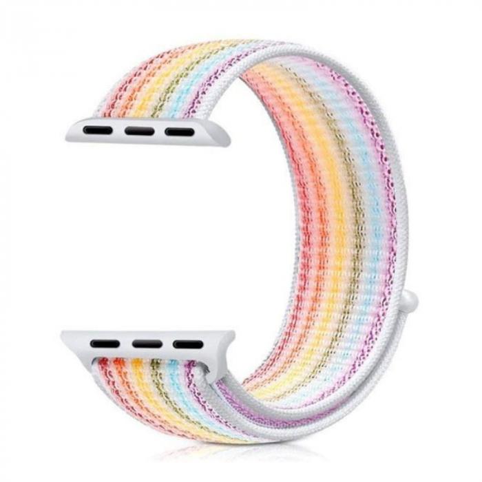 Curea Sport din nylon pentru Apple Watch compatibila cu seria 7 45mm, seria 6 44mm, seria SE 44mm, seria 5 44mm, seria 4 44mm, seria 3 42mm, seria 2 42mm si seria 1 42mm [3]