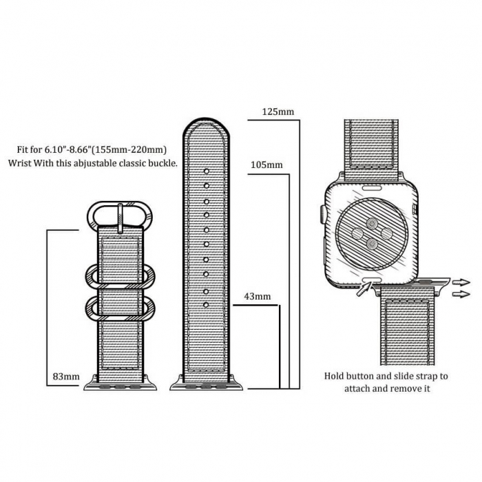Curea Apple Watch sport rosie 42/44mm [5]