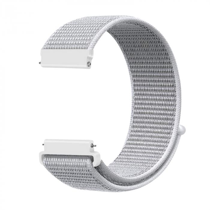 Curea Sport Loop Alba 22mm pentru Huawei Watch GT sau GT2 [0]