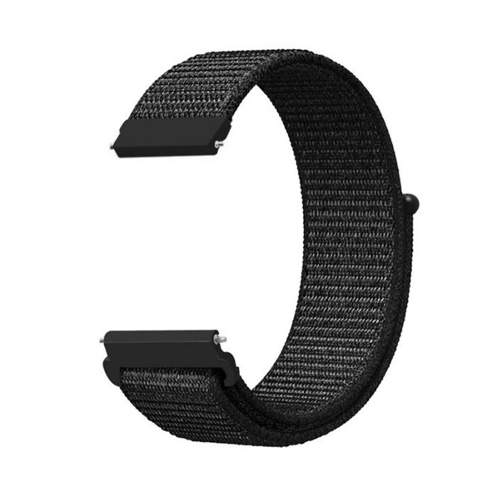 Curea Sport Loop Neagra 22mm pentru Huawei Watch GT sau GT2 [0]