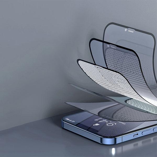 Folie privacy iPhone 12, din sticla securizata [5]
