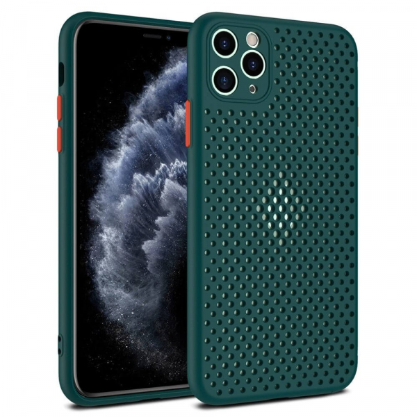 Husa iPhone 11 Heat Dissipation verde [6]