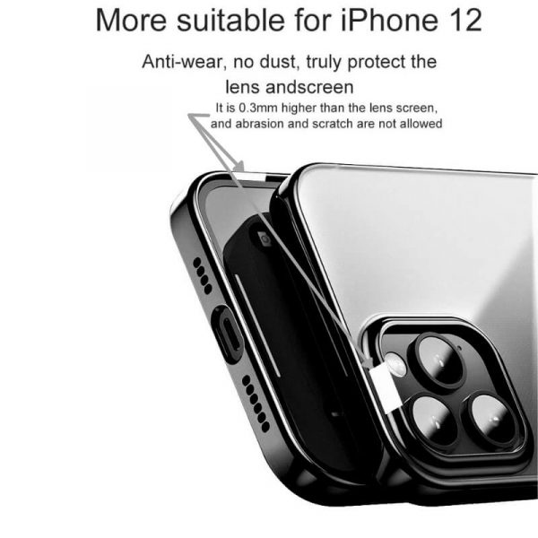 Husa iPhone 12 Pro Max Black Border [3]