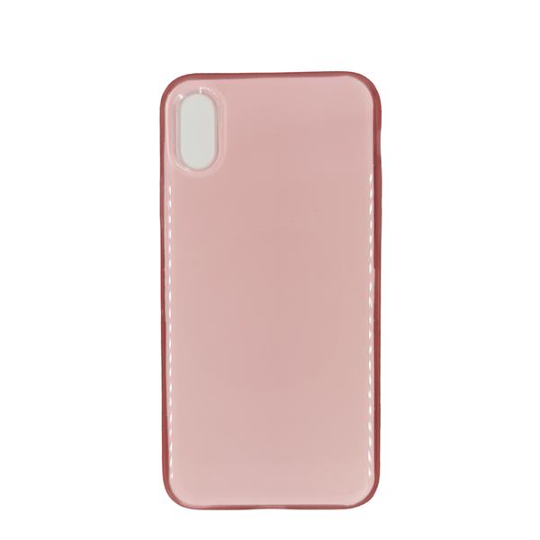 Husa iPhone X/XS transparenta roz [0]