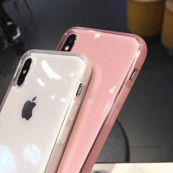 Husa iPhone X/XS transparenta roz [3]