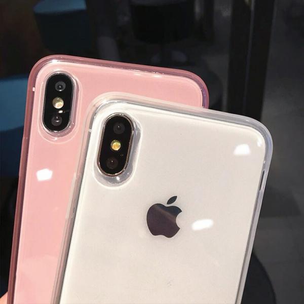 Husa iPhone X/XS transparenta roz [2]