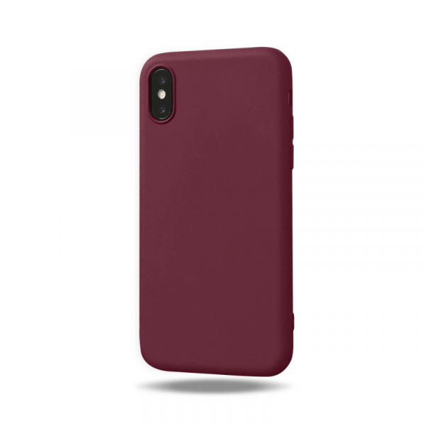 Husa iPhone X/XS silicon Red Wine [0]