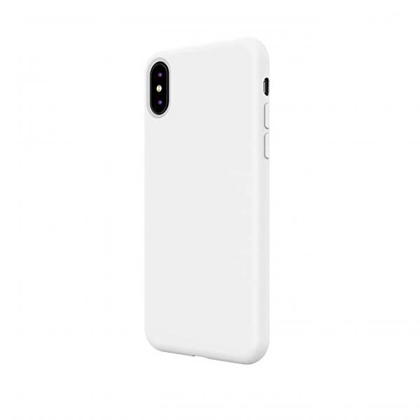 Husa iPhone X/XS din silicon alb [0]