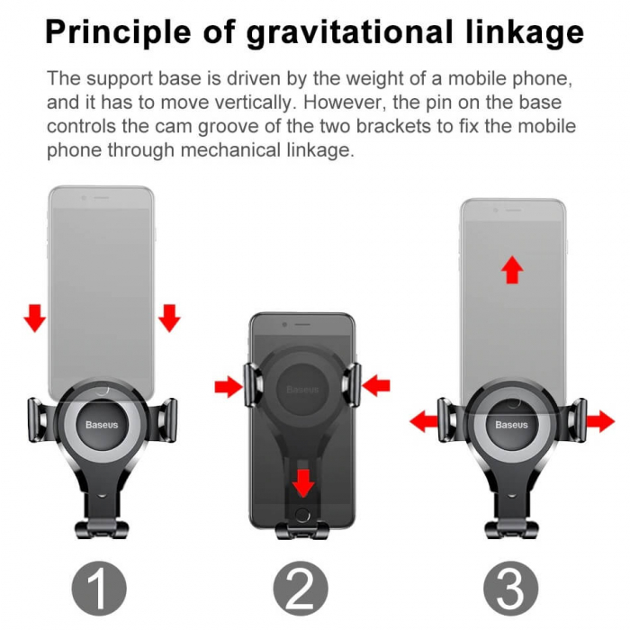Suport auto universal gravity, sistem cu ventuza [7]
